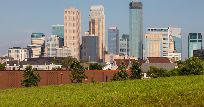 City Scape of Minneapolis - How to Find Land For a Custom Home